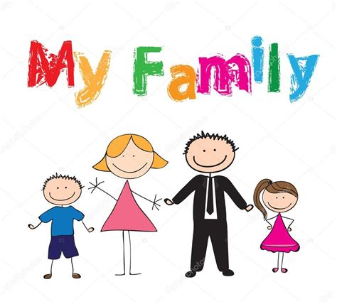 My family — Stock Vector © yupiramos #11524552