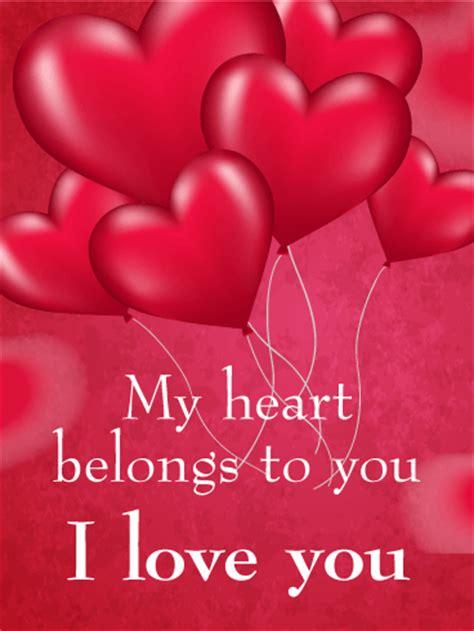 My Heart Belongs To You   Love Card | Birthday & Greeting ...