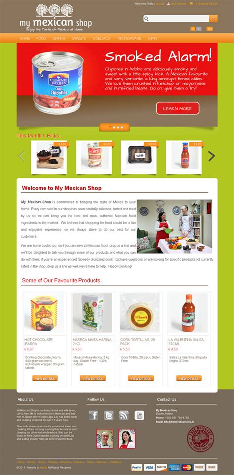 My Mexican Shop Logo design and Ecommerce website   Web ...