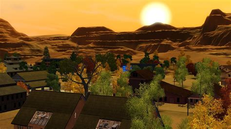 My Sims 3 Blog: Green Oakley Canyon - an old western world ...