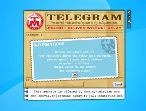 My Telegram   Windows 7 Desktop Gadget