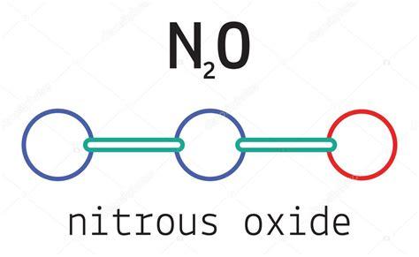 N2O nitrous oxide molecule — Stock Vector © MariaShmitt ...