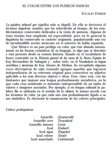 Náhuatl Audiovisual: Los colores prehispanicos