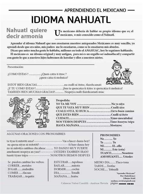 Nahuatl | Idioma | Pinterest | Idiomas, Lengua y Azteca