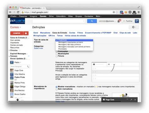 Não gosta dos novos separadores do Gmail? Vamos removê-los ...