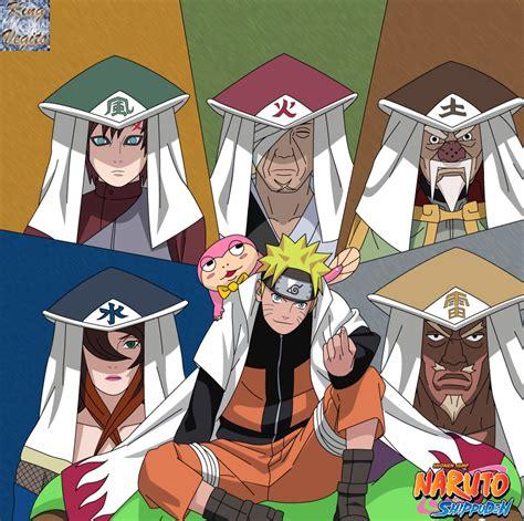 Naruto 5 Kage by kingvegito on DeviantArt