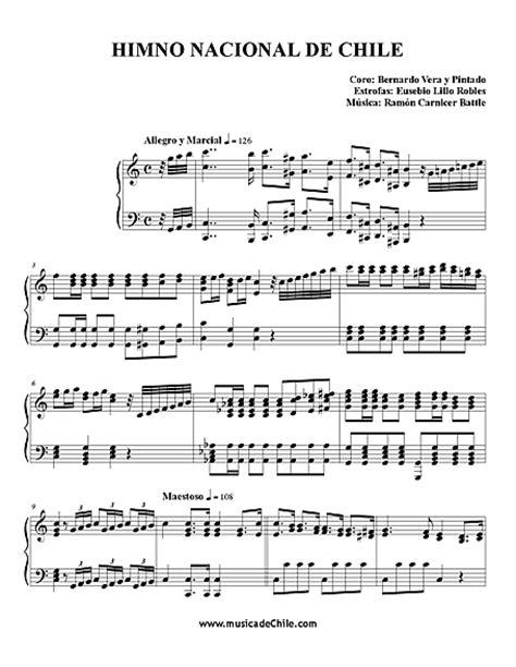 National Anthem of Chile  Himno Nacional de Chile    Sheet ...