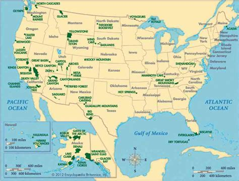 national parks map Gallery