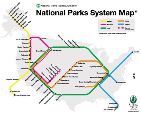 National Parks On A Public Transit Map « CBS Chicago