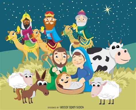 Natividad de la Navidad escena del nacimiento de ...