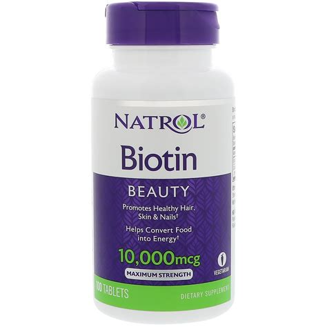 Natrol, Biotin, 10,000 mcg, 100 Tablets - iHerb.com