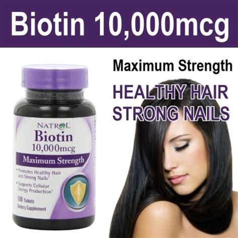 Natrol Biotin 10,000 mcg Review : Best vitamin B7 Supplement