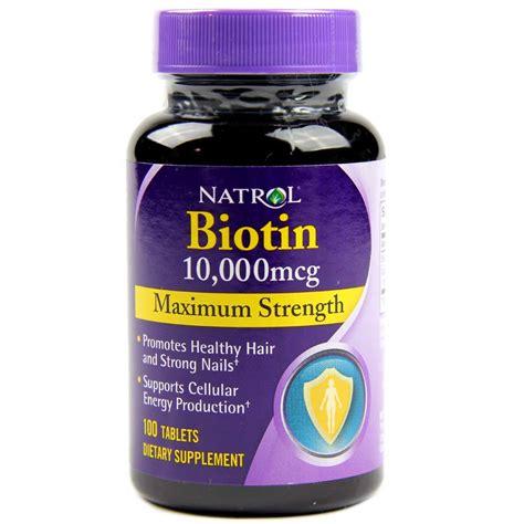 Natrol Biotin Maximum Strength - 10,000 mcg - 100 Tablets ...