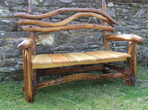 Natural Impression For Wood Bench Ideas And Unique Back ...