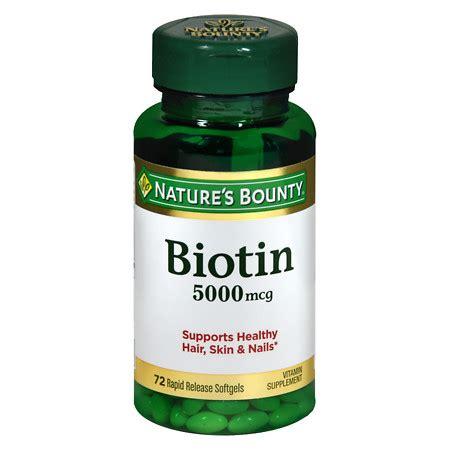 Nature's Bounty Super Potency Biotin 5000 mcg Vitamin ...