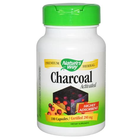 Nature's Way, Charcoal, Activated, 280 mg, 100 Capsules ...