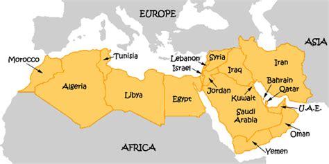 Near East Map - Near East Countries - World Atlas