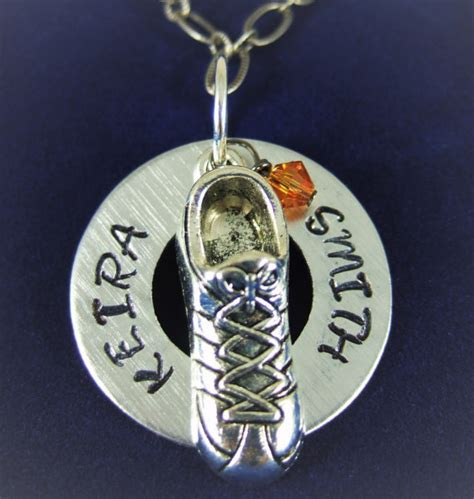 Necklace or Keychain for Runners Track and Field Necklace
