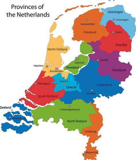 Nederland provincies kaart   Kaart van Nederland ...