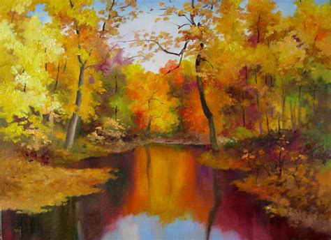 Nel s Everyday Painting: Autumn Landscape 2   SOLD