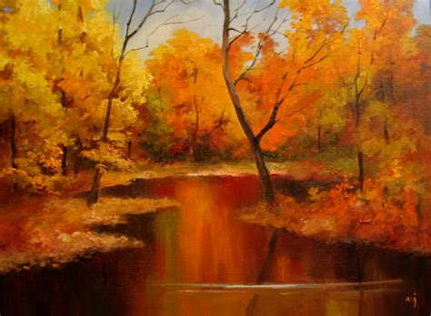 Nel s Everyday Painting: Autumn Landscape Demo   SOLD