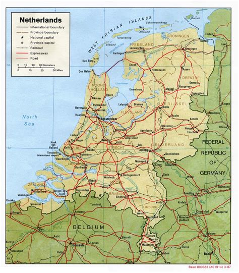 Netherlands Maps   Perry Castañeda Map Collection   UT ...