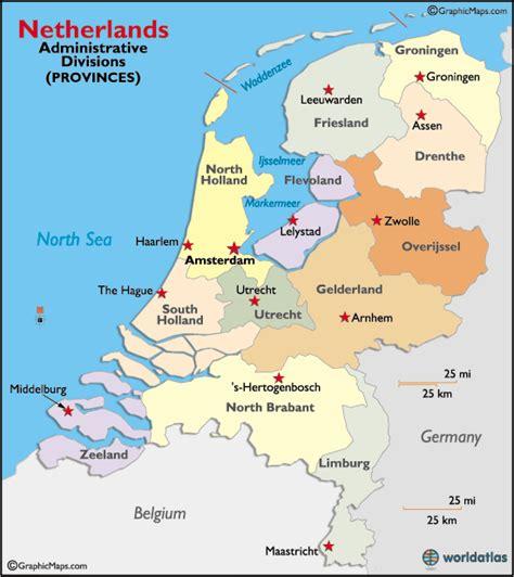 Netherlands Regions Map