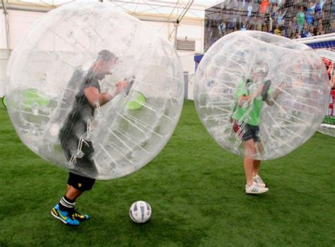 New Bubble Football puts soccer players inside bouncing ...