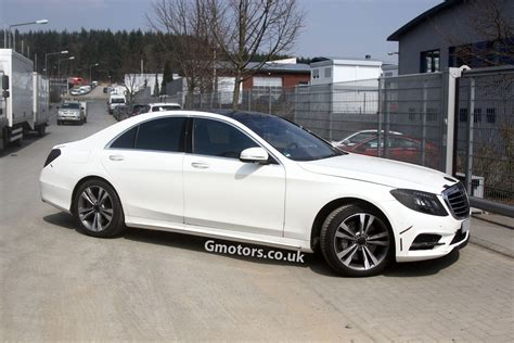 New Mercedes Benz S Class spied almost undisguised in white