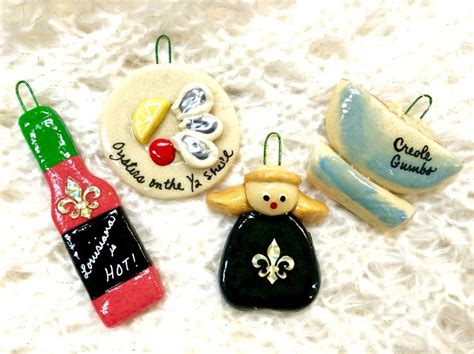 New Orleans themed Christmas Ornaments! Makes a great gift ...