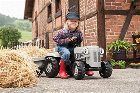New Rolly Toys Kid Little Grey Fergie Tractor And Trailer ...