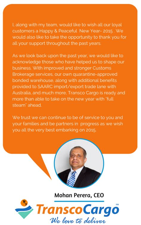 New Year Wishes | CEO Transco Cargo | Shipping Consultant ...