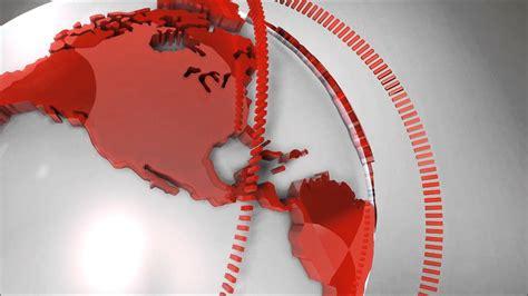 News report rotating globe HD template - YouTube