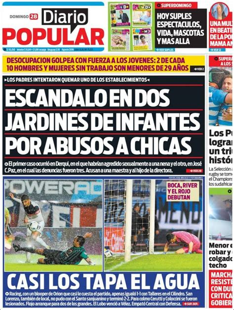 Newspaper Diario Popular (Argentina). Newspapers in ...