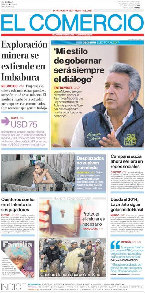Newspaper El Comercio (Ecuador). Newspapers in Ecuador ...