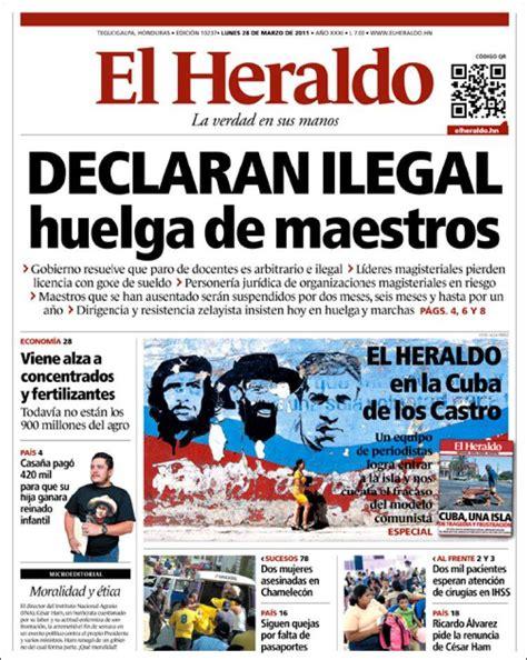 Newspaper El Heraldo (Honduras). Newspapers in Honduras ...
