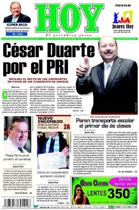 Newspaper Juárez Hoy  Mexico . Newspapers in Mexico ...