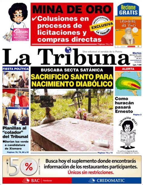 Newspaper La Tribuna (Honduras). Newspapers in Honduras ...