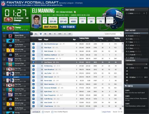 NFL Fantasy Help: Live Draft Application