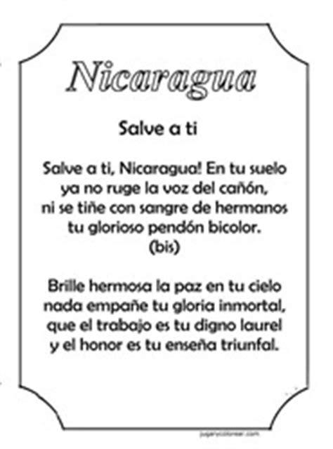 Nicaragua, colorear símbolos patrios - Colorear