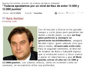 Nicolás Fernández, director de Análisis de Banco Sabadell ...