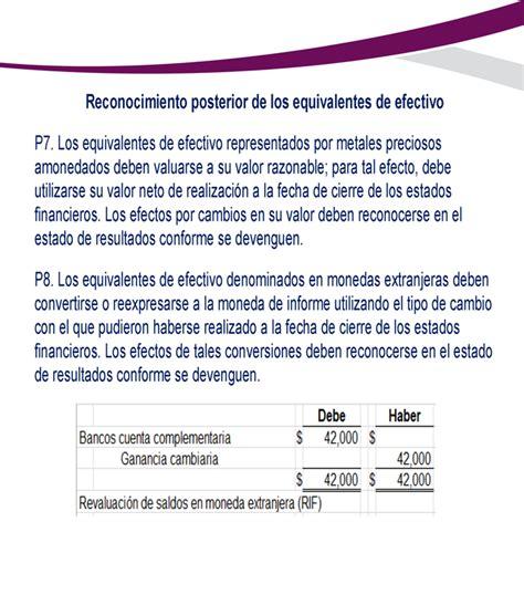 NIF C-1 Efectivo y equivalentes de efectivo - Monografias.com