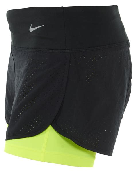 Nike Women s Dri Fit Perforated Rival 2 In 1 Running ...