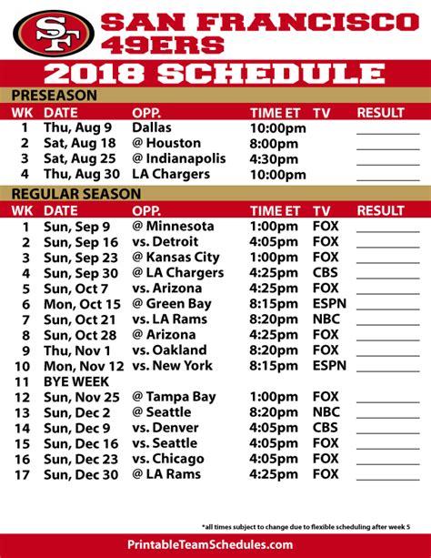 niners schedule 2015