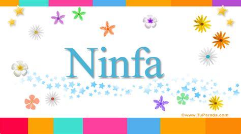 Ninfa, significado del nombre Ninfa, nombres