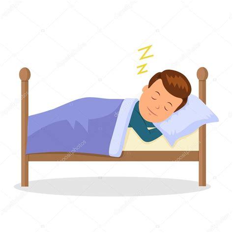 Niño duerme dulce sueño. Bebé de caricatura durmiendo en ...