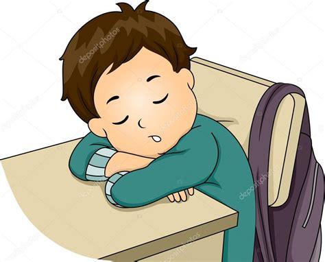 Niño durmiendo en clase — Fotos de Stock #58948717