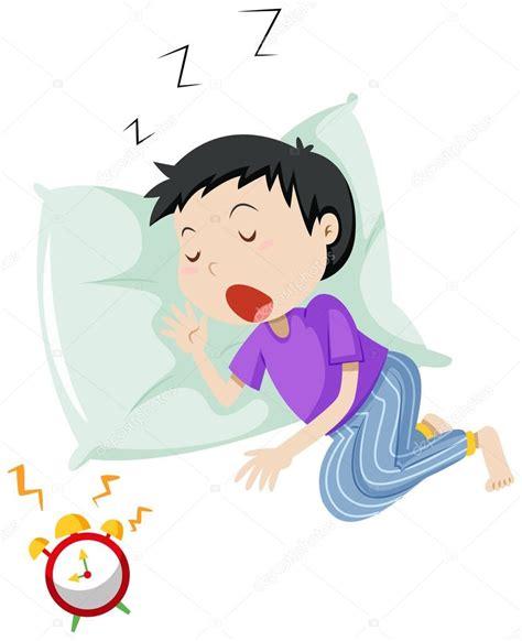 Niño durmiendo en la almohada — Vector de stock ...