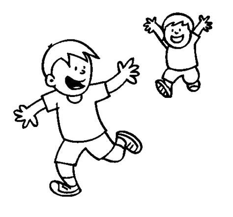 Niños corriendo para colorear e imprimir | Material para ...