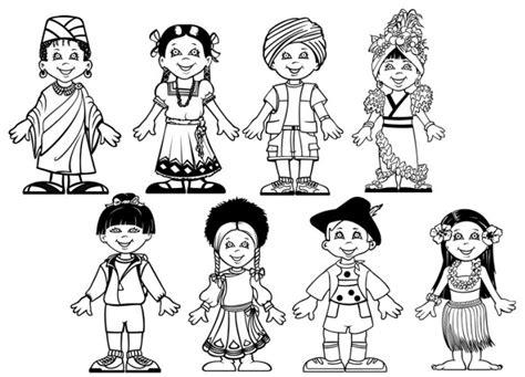 Niños diferentes culturas - Dibujalia - Dibujos para ...